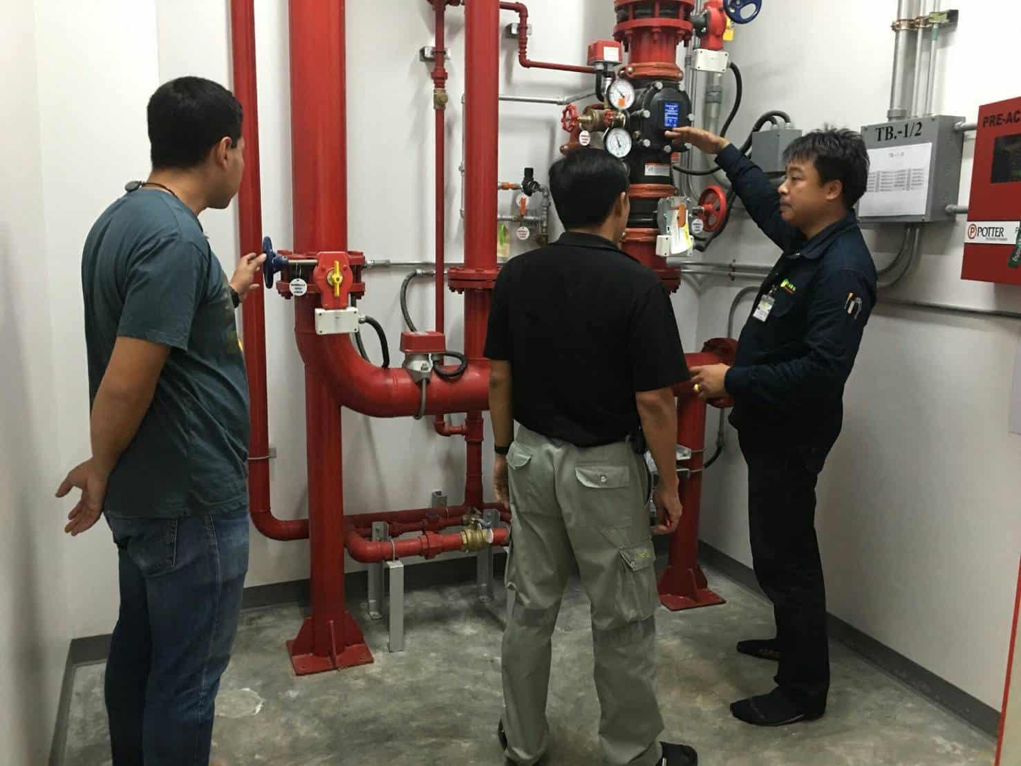 บริการทางเทคนิคสำหรับระบบดับเพลิง